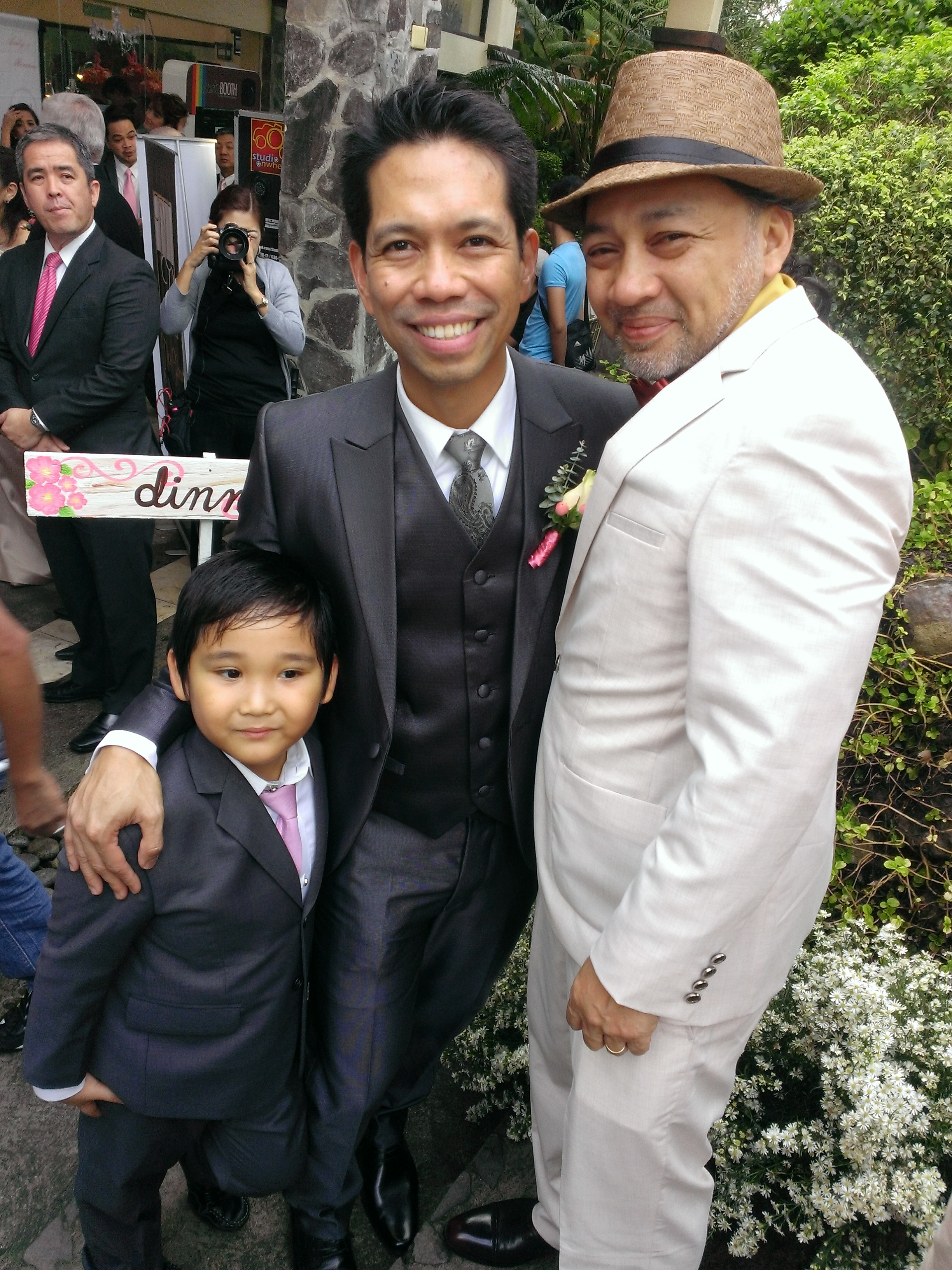 Ardy Roberto (middle) with my hubby Ron T. and little Joshy.