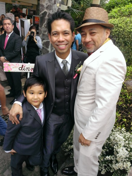 Ardy Roberto (middle) with my hubby Ron T. and little Joshy