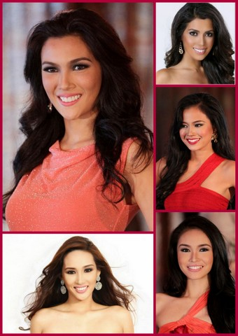 My Middle 5 Girls - clockwise from upper left - Bianca Guidotti, MJ Lastimosa, Julian Ellore Punzalan, Aurine Flores and Joy Diaz