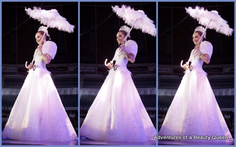 Notice the semi-sheer skirt? It's seems to be the trend in pageant costumes nowadays...