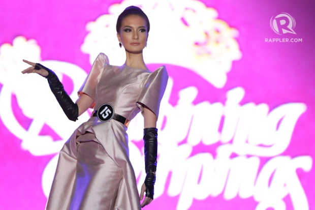 Hard to imagine how this beauty did not enter the semi-finals... Kimverly Suiza at Bb. Pilipinas' National Costume competition. Photo from Rappler