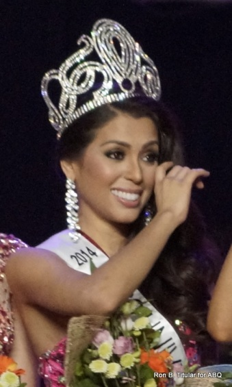 MJ Lastimosa wipes away a tear of happiness as she basks in victory...