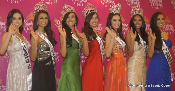 A sweet wave from the winners of Bb. Pilipinas 2014