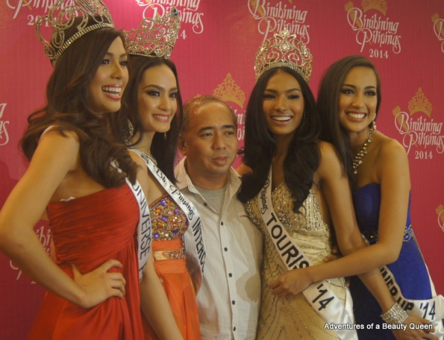 18) Rodgil Flores is the man behind these beautiful queens - L-R - MJ Lastimosa (Universe), Kris Janson (Intercontinental), Parul Shah (Tourism) and Hannah Ruth Sison (2nd Runner-up)