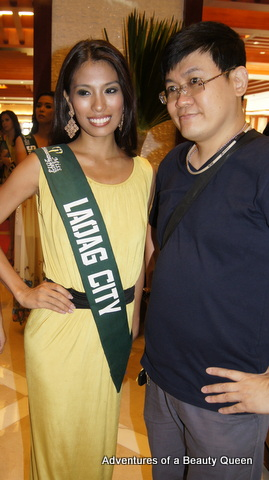 Ma. Teresa Ocampo, a dusky babe from Laoag with one of my favorite pageant photogs...