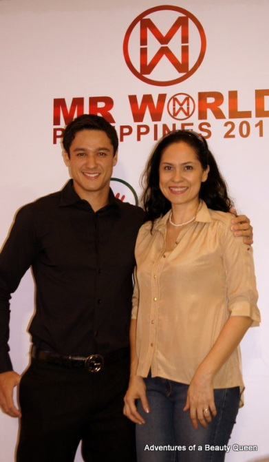 3) Mr. World Philippines 2012 Andrew Wolff with ABQ author Joyce Burton Titular