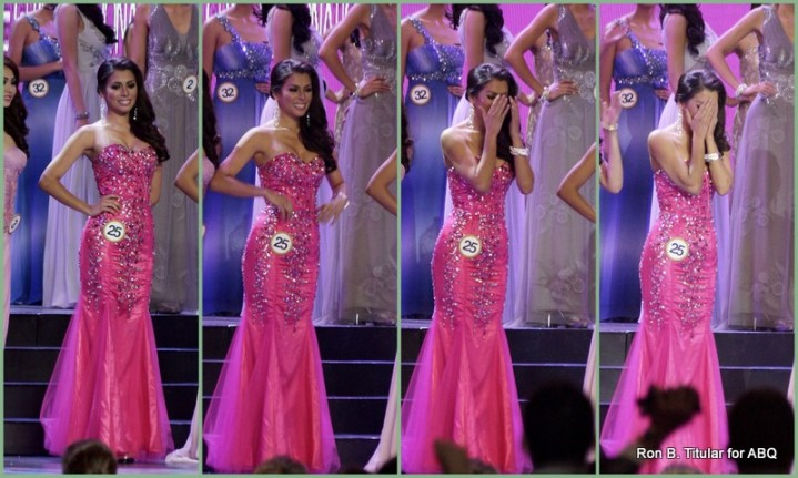 7) MJ Lastimosa upon hearing her name as the new Miss Philippines Universe winner!