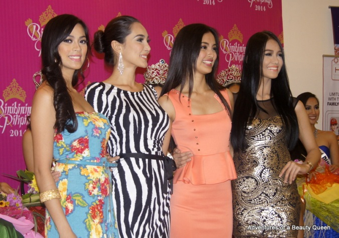 8) Also present were the Bb. Pilipinas queens from 2013 - L-R Ara Arida, Bea Santiago, Mutya Datul and Cindy Miranda