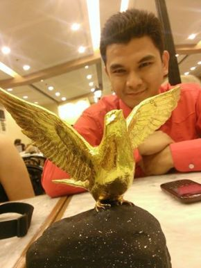 Faithfulness brings this kind of fruit! Jordan Escusa with his Golden Dove!