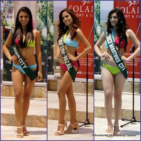 L-R - Diane Carmela Querrer (Tanauan), Anna Carmela Aquino (Taytay, Rizal) and Joselle Mariano (Trece Martires, Cavite)