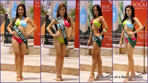 L-R - Janica Ella Honrade (Iloilo), Crystal Star Aberasturi (Liloan, Cebu), Hannah Marie Caayon (Mandaue), Shaimaa Al Najjar (Rosario, No. Samar)