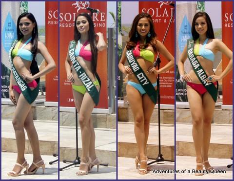 L-R - Kaycie Lyn Fajardo (Agoncillo, Batangas), Maria Jenny Bantug Gonzales (Cainta), Roanne Refrea (Cabuyao), Patrixia Sherly D. Santos (Daraga, Albay)