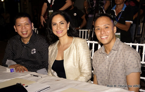 Me with my co-judges Eric Pineda (left) and Nat Manilag (right)