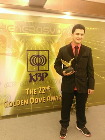 My radio son Jordan Escusa won the Golden Dove for Best Radio Jock!