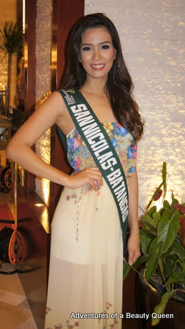 One of the tallest girls in MPE 2014, Christine Angel Alvaira of San Nicolas, Batangas