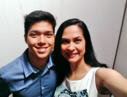 Elmo Magalona and me... isn't he the spitting image of his Dad, the late master-rapper Francis Magalona