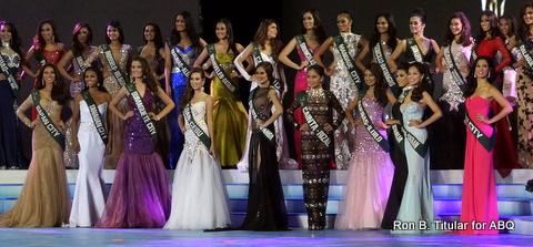 MPE 2014 Top 10 L-R - Gapan, Tanauan, Dumaguete, Liloan Cebu, Sta. Rita Pampanga, Cainta, Duenas Iloilo, Dinalupihan, Cebu City