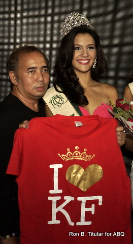 Jamie Herrell, the new Miss Philippines Earth 2014 winner with her pageant trainer Rodgil Flores of KF or Kagandahang Flores
