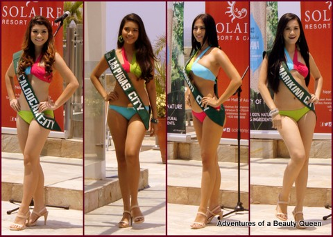L-R Amanda Arbitrario (Caloocan), Mary Laveryn Naluz (Las Pinas), Mary Ann Ross Misa (Makati), Michelle Karen dela Paz (Marikina)