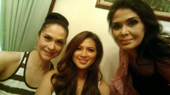 With Lara Quigaman Alcaraz and Evangeline Pascual in the dressing room!