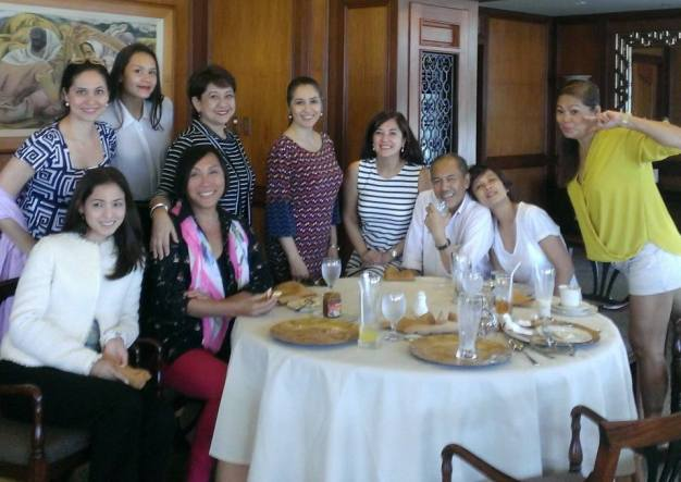 Beyond Beauty - L-R back row - Joyce Ann Burton Titular, Gionna Cabrera, Emma Yuhico, Chiqui Brosas, Dang Cecilio Palanca, Teng Roma, Izza Gonzales and Desiree Verdadero. Front row - Gladys Duenas and Mama Renee Salud