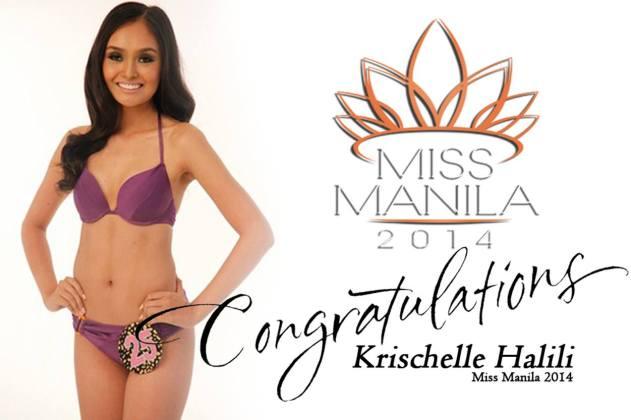Krischelle Halili winner of Miss Manila 2014