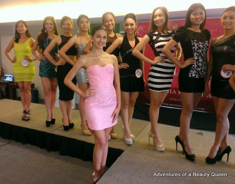 Official Mutya ng Pilipinas 2014 Candidate Patrizia Bosco in the foreground. She is a stunner!