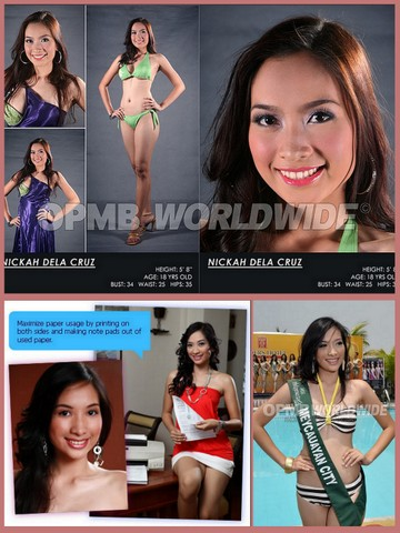 The photos at the bottom were taken when Nickah dela Cruz was competing in Miss Philippines Earth 2009. She was only 18 years old then.
