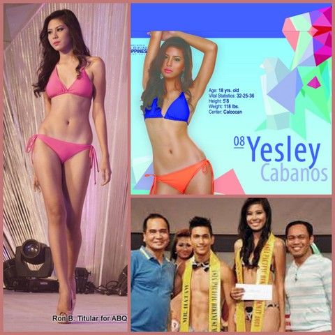 Yesley Cabanos seems much taller than the male winner (bottom right) in the Mr and Miss Hataw Tabloid contest.