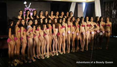 The 30 Official Candidates of Mutya ng Pilipinas 2014 presented to the media at Hotel H20 in Manila on July 23, 2014