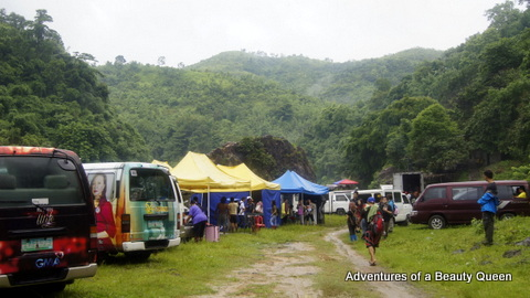 3) The tent city of the cast and crew of Ang Lihim ni Anasandra