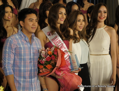 4) Patrizia Bosco wins Darling of the Press! Flanking her are Jefferson and Jaqueline Tan of Mutya ng Pilipinas Asia Pacific International 2013. Koreen Medina, is at the far right...