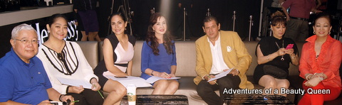 The panel of screening judges with Miss World Philippines country manager Cory Quirino in the middle.