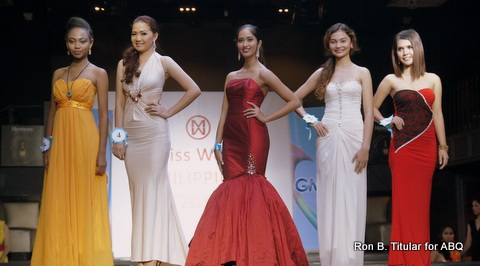 Left to Right - #5 Angelica Balmonte, #4 Moriel Olea, #3 Eliza Johanna Cruz, #2 Theresa Regli and #1 Laye Ann Grace Lapid