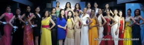 Cory Quirino (in blue in the middle) poses with all 22 girls who attended Day 1 of the screening for Miss World Philippines 2014...