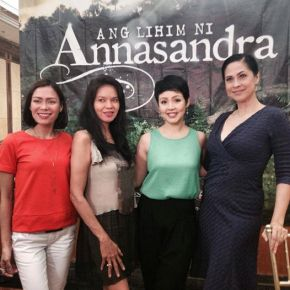 With my Ang Lihim ni Annasandra co-actors L-R Glydel Mercado, Maribel Lopez and Cris Villongco.