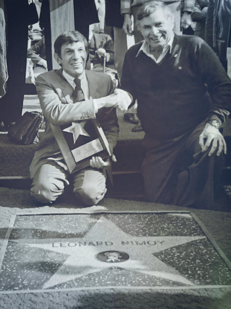 On January 16, 1985, Leonard Nimoy aka Spock finally got his own Hollywood Star. With him to celebrate the occasion is Star Trek creator Gene Roddenberry