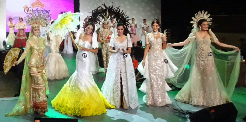 Bb. Pilipinas 2015 Top 5 in National Costume - #29 Nancy Lenard, #27 Ina Dominica Guerrero, #34 Wynwyn Marquez, #10 Pia Wurtzbach and #25 Rogelie Catacutan