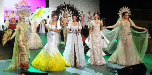 Bb. Pilipinas 2015 Top 5 in National Costume - #29 Nancy Lenard, #27 Ina Dominica Guerrero, #34 Wynwyn Marquez, #10 Pia Wurtzbach and #25 Rogelie Catacutan