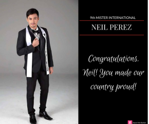 Neil Perez, Mr. International 2014-15