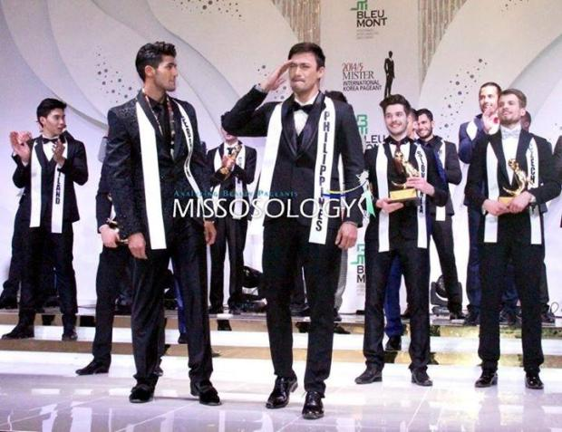 An emotional Neil Perez as he realizes that he is the winner of Mr. International 2014-15