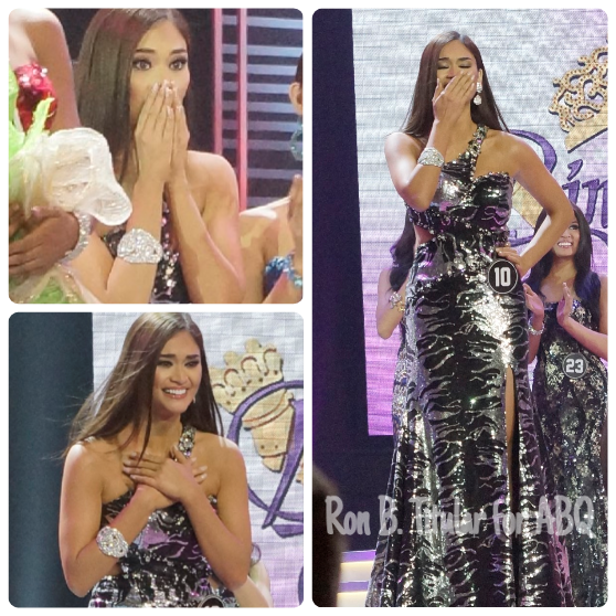 5) Pia Wurtzbach's different faces of joy at winning Miss Philippines Universe in Bb. Pilipinas 2015
