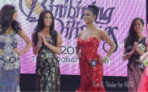 Christi Mcgarry is called forward as Bb. Pilipinas Intercontinental 2015. She did a good job of hiding her confusion...