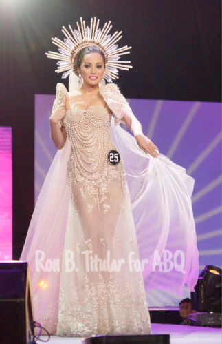 Contestant #25 Rogelie Catacutan in National Costume designed by Philip Tampus