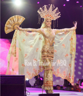 Contestant #29 Nancy Lee Leonard in National Costume designed by Edwin Uy