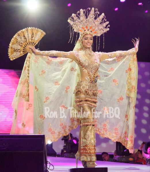 Contestant #29 Nancy Lee Leonard in National Costume designed by Edwin Uy