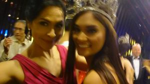 With Bb. Pilipinas Universe 2015 Pia Wurtzbach at her Victory party!