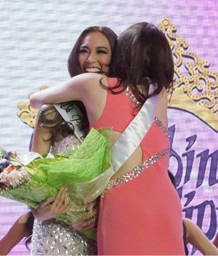 Hannah Ruth Sison seems fine after she is announced 1st Runner up....